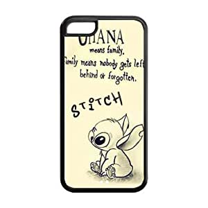 Kellie-Diy Lilo and Stitch Solid Rubber S7jCg0LksqK Customized Cover case cover for iPhone 5c