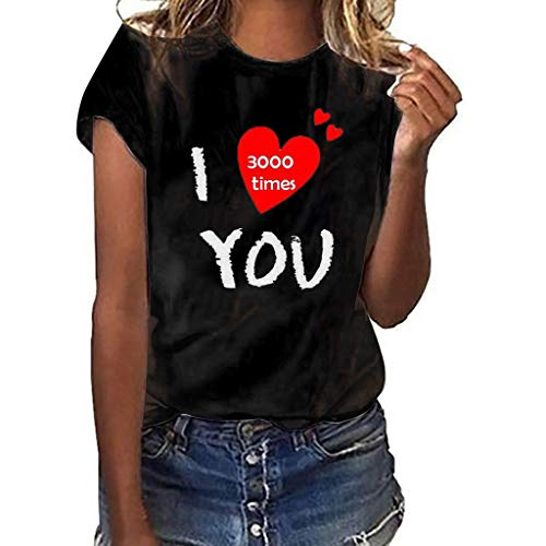 NCCIYAZ Womens Vest Top T-Shirt I Love You 3000 Times for Marvel Iron Man Tony Stark New Ladies Plus Size Tank(3XL(14),Black T-Shirt-4)