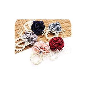 Wedding Bride Team Pearl Bracelet Wrist Flower Girls Party Favor Rose Corsage Party Hand Decorative Artificial Flower 41