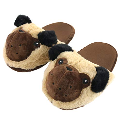 Komyufa Puppy Women Slippers Soft Cozy Dog Animals Memory Foam Fleece Plush House Warm Indoor Shoes Gifts for Girls