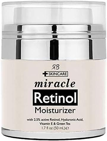 Radha Beauty Retinol Moisturizer Cream for Face - with Retinol, Hyaluronic Acid, Vitamin E and Green Tea. Best Night and Day Moisturizing Cream 1.7 fl oz