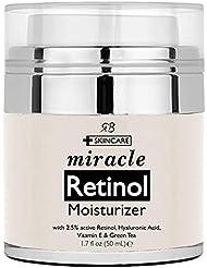 Retinol Moisturizer Cream for Face - with Retinol, Hyaluronic Acid, Vitamin E and Green Tea. Best Night and Day Moisturizing Cream 1.7 fl oz.