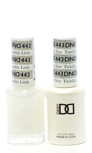 DND Gel & Matching Polish Set #443 - Twinkle Little. Buy 5 any colors get 1 Diamond super fast drying top coat 0.5 oz Free