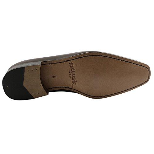 Exclusif ParisExclusif Paris Travis, Chaussures homme Richelieus homme - Zapatos de Cordones Hombre Marrón - marrón