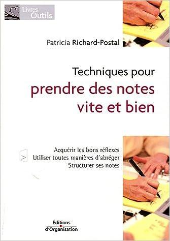Lire un Techniques pour prendre des notes vite et bien pdf epub