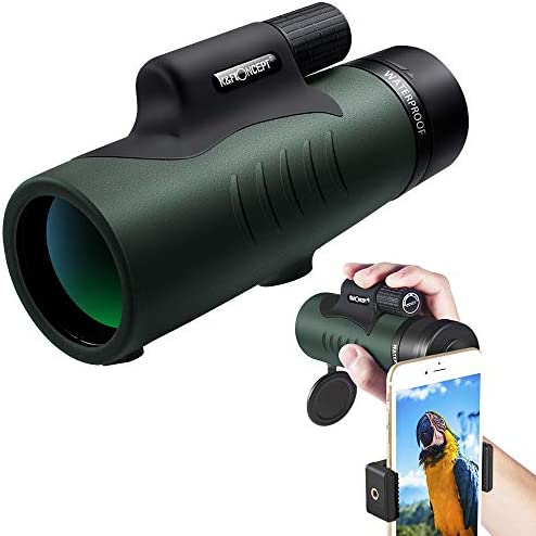 K F Concept 12 X 50 Powerful High Definition Monocular with Low Light Night Vision for Bird Watching, Outdoor Sports Games and Concerts
