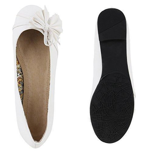 ... Stiefelparadies Damen Ballerinas Schleifen Klassische Ballerina Schuhe  Strass Flats Metallic Übergrößen Gr. 36-44 aed56faab1