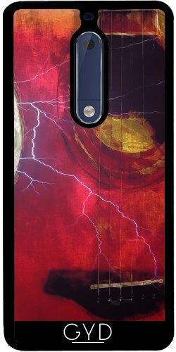 Funda de silicona para Nokia 5 - Rayo Guitarra by J McCool