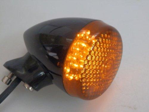Black/Smoke Motorcycle Front & Rear 39mm Turn Signal Light for Harley Custom Honda Kawasaki Suzuki Yamaha