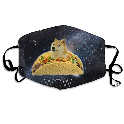 Mouth Mask Earloop Face Masks Soft Polyester Breathable Mask - Galaxy Space Doge Harmber Adjustable Elastic Strap Windproof Mouth-Muffle, Anti Flu for Camping Running]()