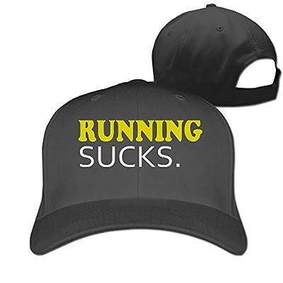 Running Sucks Cute Unisex-Adult Sun Cap Hat Black