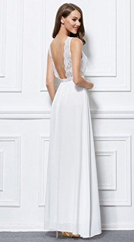 Vimans -  Vestito  - linea ad a - Donna Avorio 46