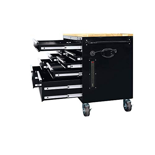 Strong 46 in. 9-Drawer Mobile Workbench in Black Fixer Upper Toolings Contractor Mechanic Car auto Truck Vehicle Automobile Autobody Shop Handyman