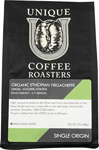 Unique Coffee Roasters, Coffee Ethiopian Kochere Whole Bean, 12 Ounce