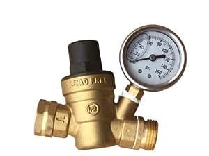 water pressure regulator brass lead free adjustable water pressure reducer for rv. Black Bedroom Furniture Sets. Home Design Ideas