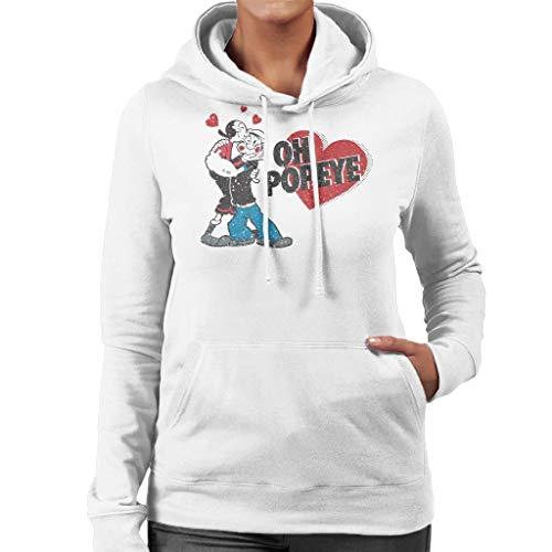 Popeye and Olive OYL Love Women's Hooded -