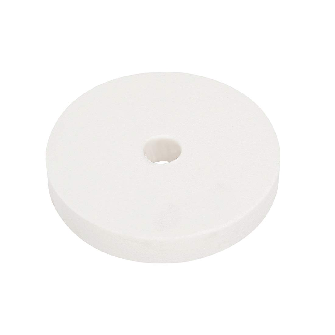 sourcing map 5 Pouces Meule de Banc Rectification superficielle de loxyde daluminium WA 80 grains Blanc