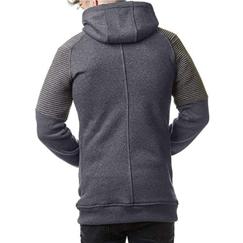 Jackets Autumn Outdoor Solid Men Coat Dark Tops Waterproof Give Hooded Slim koiu❀❀Men's Casual Blouse Sleeve Long Gray Zipper Color tYqgcwH