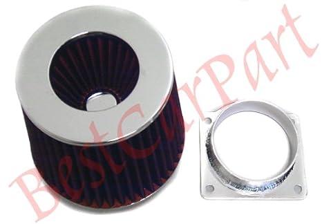 BLACK Filter For 01-07 Escape 3.0L V6 Mass Air Flow Sensor Intake Adapter