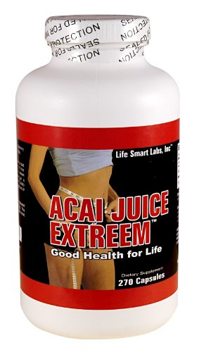 ACAI Juice Extreem -270 CAPSULES, 4 fois plus puissant pour chaque Nutrition MG Berry ACAI naturelles, l'énergie, 1300 mg par portion quotidienne