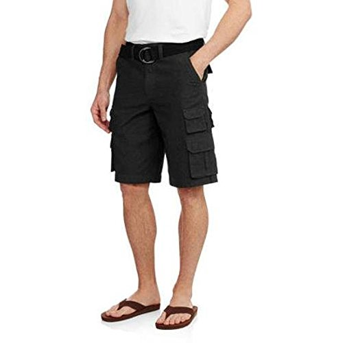Faded Glory Mens Belted Stacked Cargo Short - Size 36 (Bl...