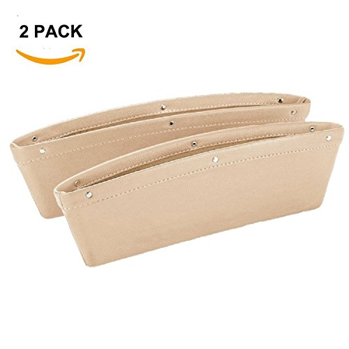 2PCS Car Seat Gap Filler Car Pocket Organizer Seat Console Gap Filler Side-Premium Quality PU Leather Car Gap Filler and Organizer in Between Front Seat and - Car Get Scratches Best Of To Thing Out