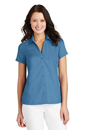 (Port Authority Women's Textured Camp Shirt L662 Celadon 2XL)
