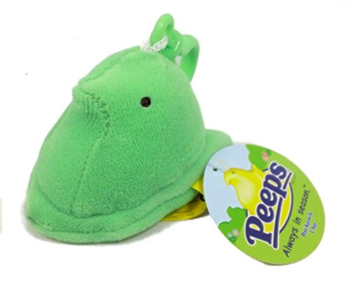 Peeps Chick Plush Mini with Backpack Clip - Green