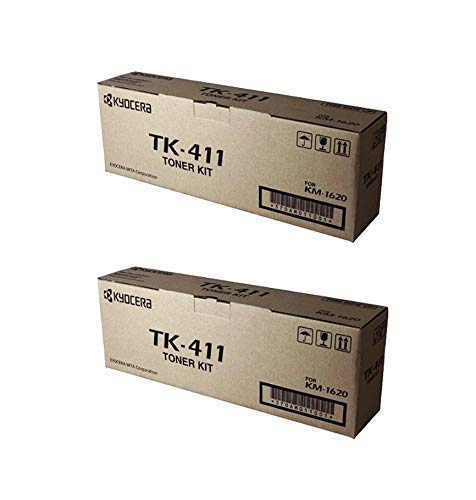 - TK411 Genuine Kyocera Toner Cartridge 2 Pack, 370AM011, 15000 Page-Yield Per Ctg, Black