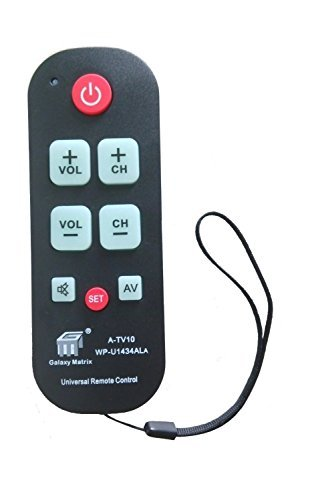 AMAZSHOP247 A-TV10 Large Button Universal Waterproof Remote Control Vizio LG Sharp