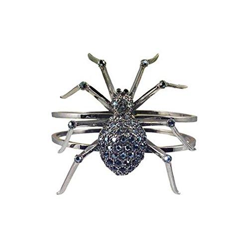 Halloween Spider handcasted using Swarovski Crystals Vintage Inspired NEW LARGE Gift Cuff Bangle Bracelet RSB564-RD