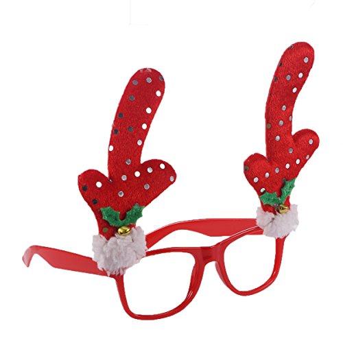 LUOEM Novelty Fancy Glasses Christmas Decoration Eyeglass Reindeer Antler - Without ??????? Sunglasses