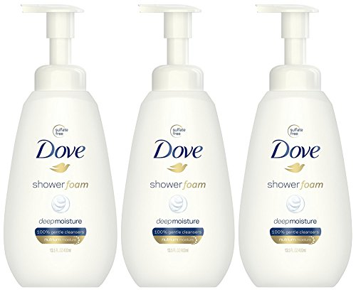 Foam Body Soap - Dove Shower Foam Deep Moisture Foaming Body Wash, 13.5 Ounce (Pack of 3)