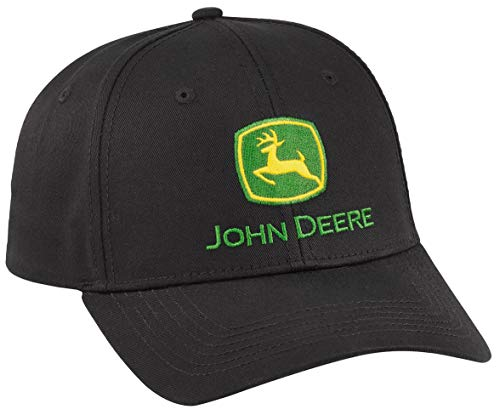 (John Deere Black Pro Chino Twill Cap/Hat -)