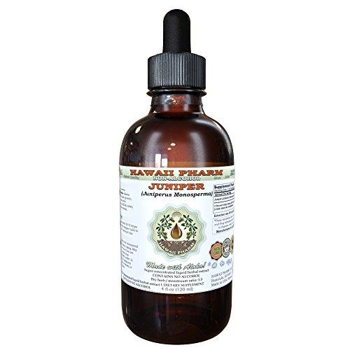 Berry Extract Liquid - Juniper Alcohol-FREE Liquid Extract, Organic Juniper (Juniperus Monosperma) Dried Berry Glycerite Hawaii Pharm Natural Herbal Supplement 2 oz