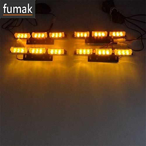 fumak Luces para Parrilla luz ámbar Amarilla 4 x 9 LED para ...