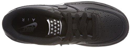 black Nike Sneaker On gs Chaussons black Gar white Noir Force 1 036 Air axzrTwaWqg