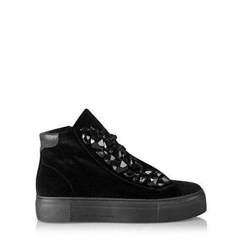 Top Kennel Black High Trainer Luxe Schmenger Shoe Big und Velvet OqYzOw