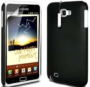(Blanco) Samsung Galaxy Note N7000 dura protectora de silicona blanda Hybrid Dual Layer caso de la piel, Mini Capacative Stylus Pen & LCD Protector de pantalla Por Fone-Case