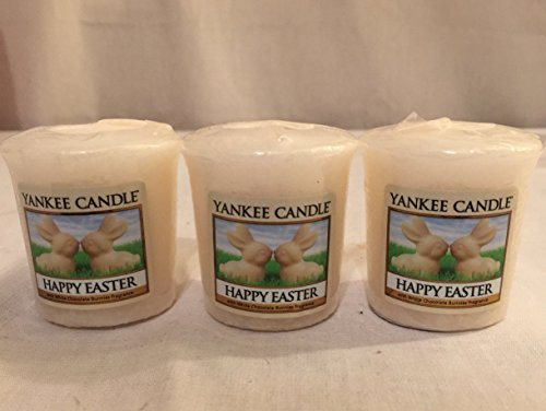 Lot Of 3 Yankee Candle Happy Easter Sampler  Votive Candles 1 75 Oz Each