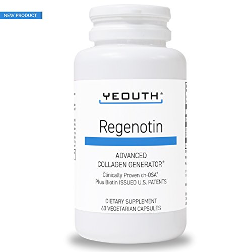Cheap Regenotin with Biotin 5000mcg, ch-OSA Boosting Collagen and Keratin by YEOUTH. Proven to Reduce Wrinkles Vitamin Supplement for Skin, Hair, Nails and Joints. All-Natural, Wrinkle-Reducing – 60 Count