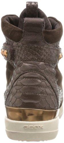 Geox D HYPERSPACE A - Pantuflas de caña alta de cuero mujer marrón - Braun (COFFEE C6009)