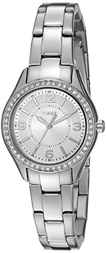 - Timex Women's TW2P798009J Miami Mini Analog Display Analog Quartz Silver Watch