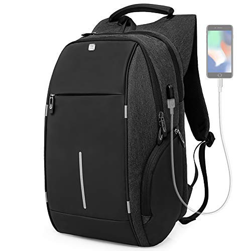 Business Laptop Backpack, HiOrange Travel Anti Theft Computer Backpack with USB Charging Port, Waterproof Night Light Reflective College school bag for Women & Men Fits 15.6 Inch Laptop and Notebook by HiOrange