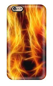 Best 1110265K75322371 Faddish Fire Cat Desktop Background Case Cover For Iphone 6