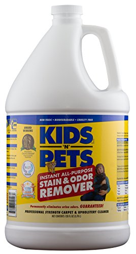 - KIDS 'N' PETS - Instant All-Purpose Stain & Odor Remover - 128 oz | Proprietary Formula Permanently Eliminates Tough Stains & Odors - Even Urine Odors | No Harsh Chemicals, Non-Toxic & Child Safe