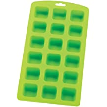 HIC Silicone 18-Square Ice Cube Tray and Baking Mold, 9 by 4-1/4-Inch