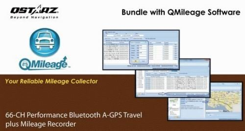 Qstarz BT-Q1000XTM Mileage Bluetooth Data Logger GPS Receiver (66 ch, AGPS, Vibration sensor, 400K waypoints) by Qstarz (Image #1)