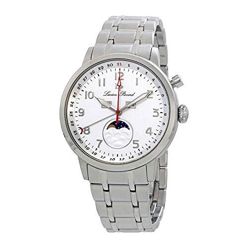 Lucien Piccard Complete Calendar White Dial Men's Watch 40016-22S (Lucien Piccard White Wrist Watch)