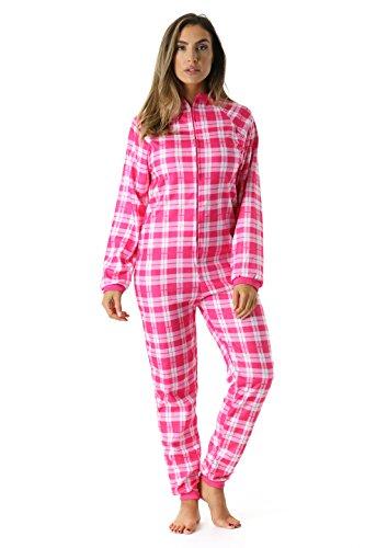 Just Love Printed Flannel Adult Onesie/Pajamas, Plaid, X-Sma